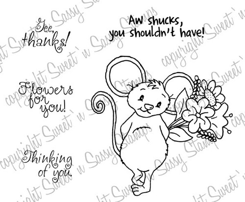 Timid Timothy Mouse Digital Stamp