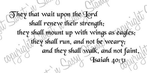 Isaiah 40:31 Digital Stamp