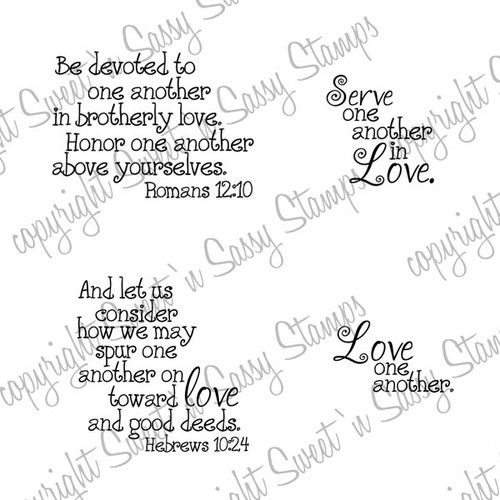 Serve in Love Digital Stamp