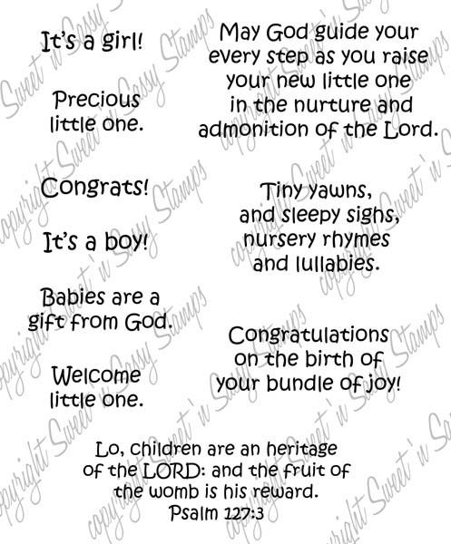 Baby Blessings Digital Stamp