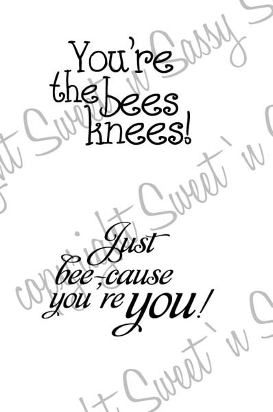 Bee Sentiments Digital Stamp