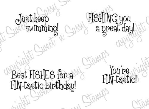 Fishy Sayings Digital Stamp