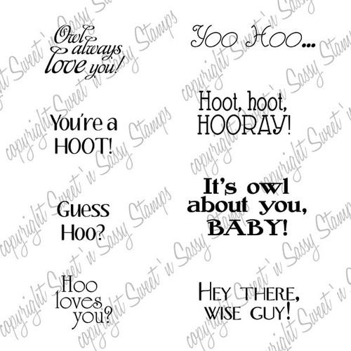 Owl Sentiments Digital Stamp