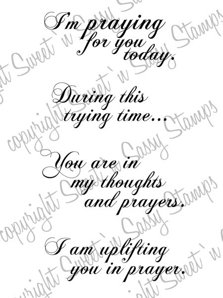 Praying for You Digital Stamp