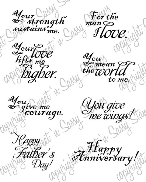 Sentiments for Him Digital Stamp