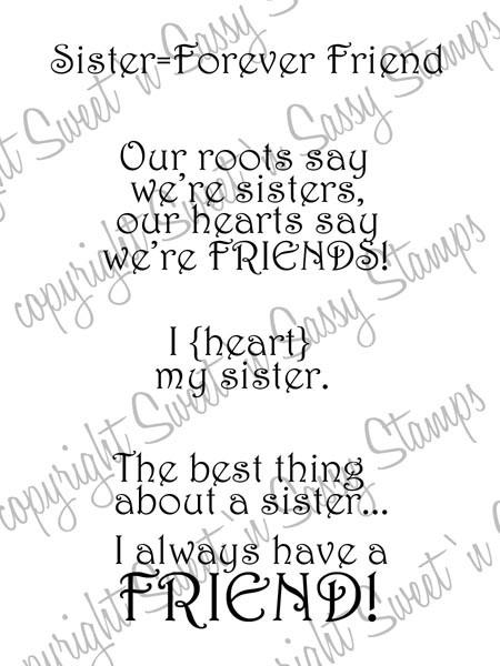 Sister Sentiments Digital Stamp