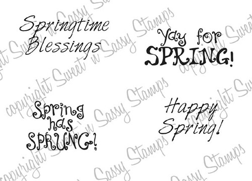 Springtime Blessings Digital Stamp