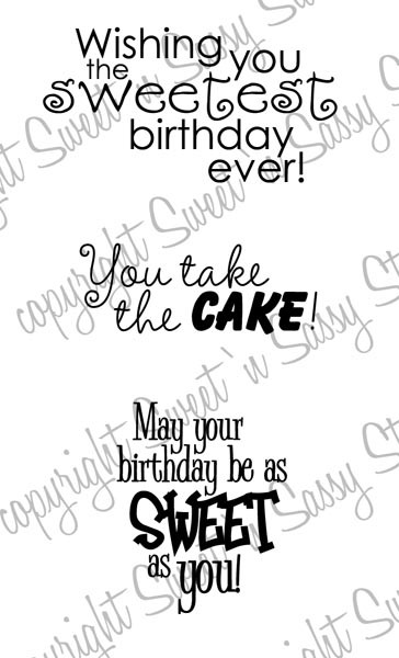 Sweet Birthday Wishes Digital Stamp