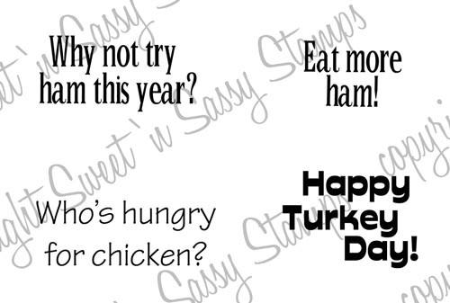 Turkey Day Sentiments Digital Stamp