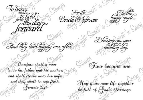 Wedding Day Wishes Digital Stamp