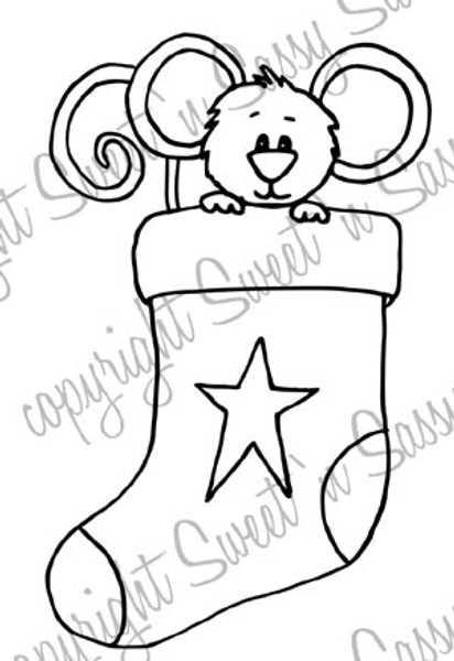 Cocoa's Stocking Digital Stamp