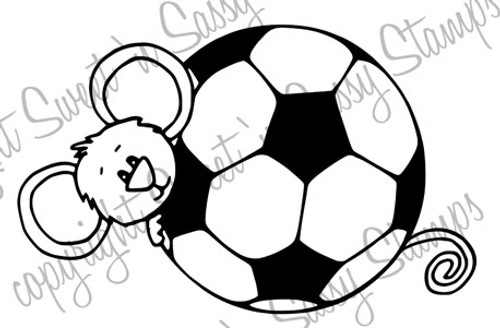 Cocoa Loves Soccer Digital Stamp