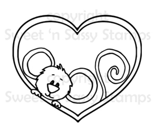 Cocoa's Heart Digital Stamp