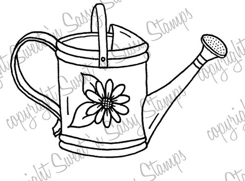 Watering Can Digital Stamp