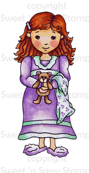 Bedtime Molly Colored Digital Stamp