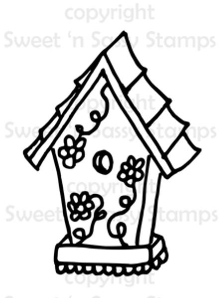 Birdhouse Digital Stamp