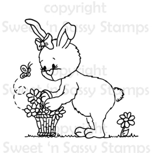 Bethany Picking Flowers Digital Stamp
