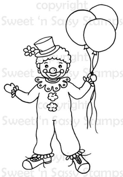 Cosmo Clown Digital Stamp