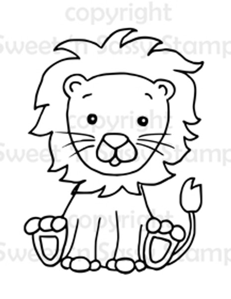 Little Leo Lion Digital Stamp