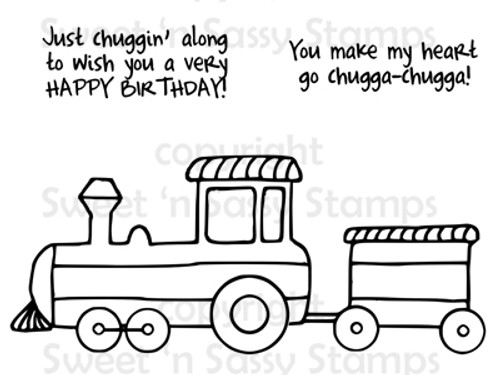 Chuggin Along Digital Stamp