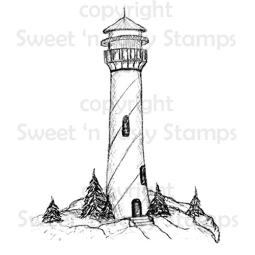 Lighthouse Digital Stamp