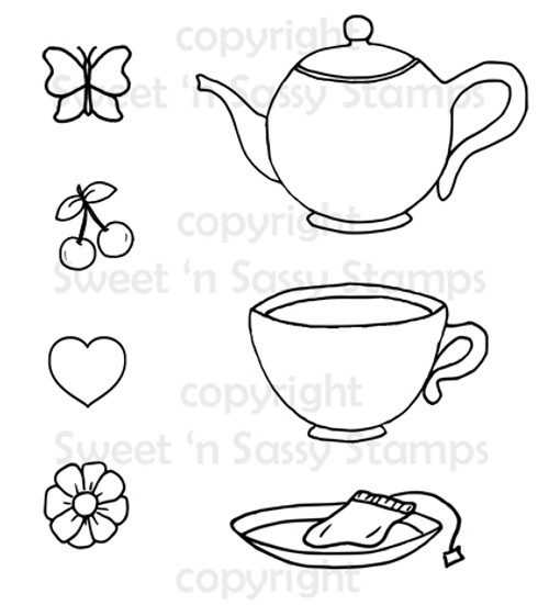 Tea Time Digital Stamp