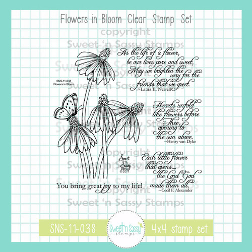 Flowers in Bloom Clear Stamp Set