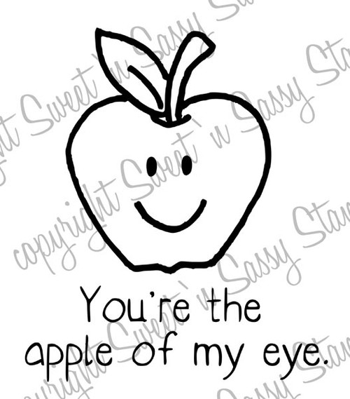 Apple of My Eye Digital Stamp
