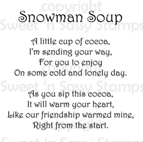 image regarding Snowman Soup Poem Printable named Snowman Soup Poem Electronic Stamp
