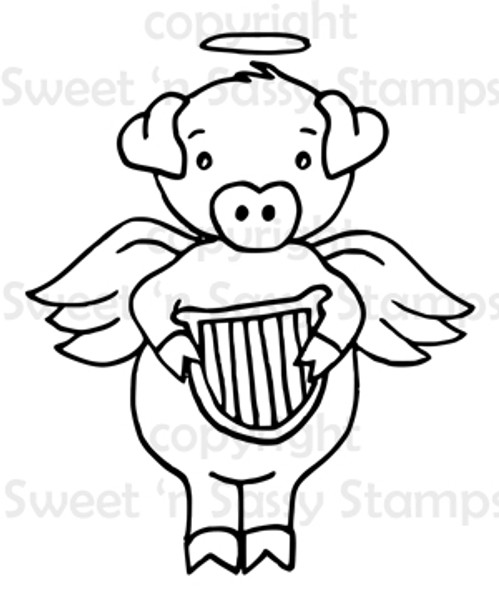 Angelic Oliver Digital Stamp
