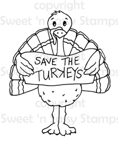Save the Turkeys Digital Stamp