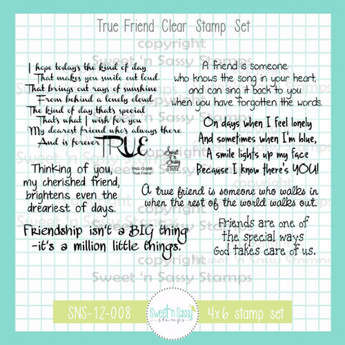 True Friend Clear Stamp Set