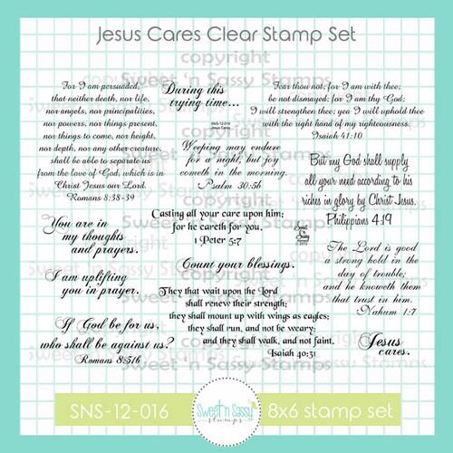 Jesus Cares Clear Stamp Set