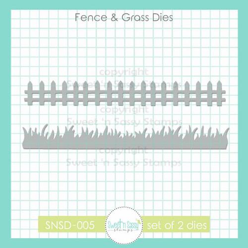 Fence & Grass Die Set