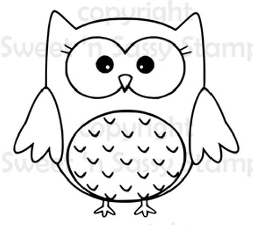 Opal Owl Digital Stamp