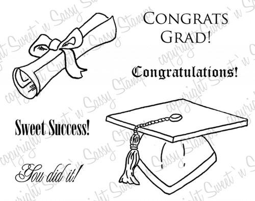 Graduation Digital Stamp Set