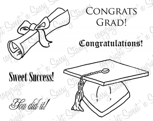 Graduation Digital Stamp Set
