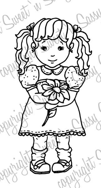Molly's Flower Digi Stamp