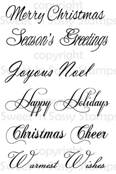 Christmas Sentiments Digital Stamp