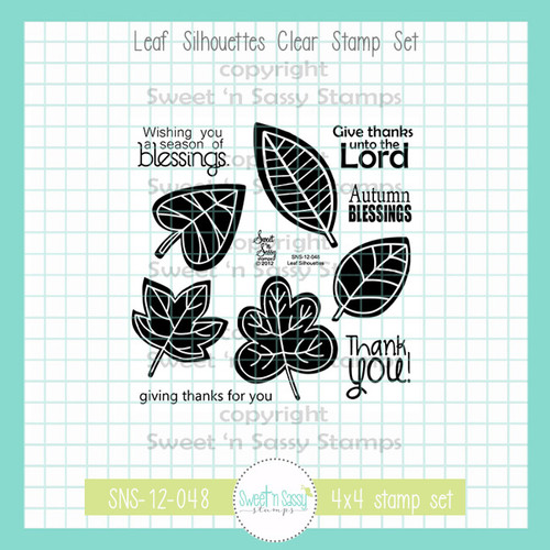 Leaf Silhouettes Clear Stamp Set