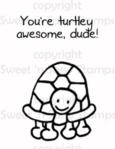 Turtley Awesome Digital Stamp
