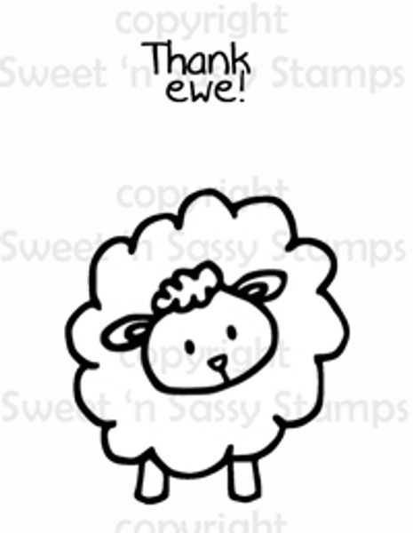 Thank Ewe Digital Stamp