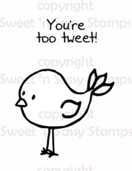 Too Tweet Digital Stamp