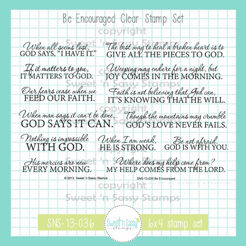 PREORDER Be Encouraged Clear Stamp Set