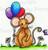 Milton Mouse Colored Digital Image