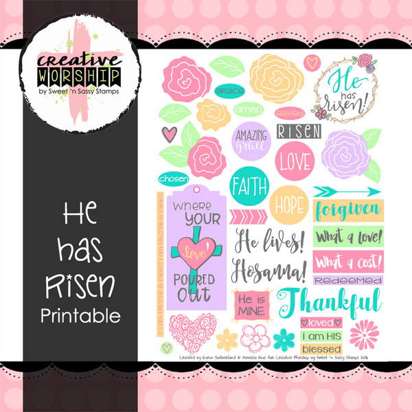 graphic about He is Risen Printable identify Artistic Worship: He Is made up of Risen Printable