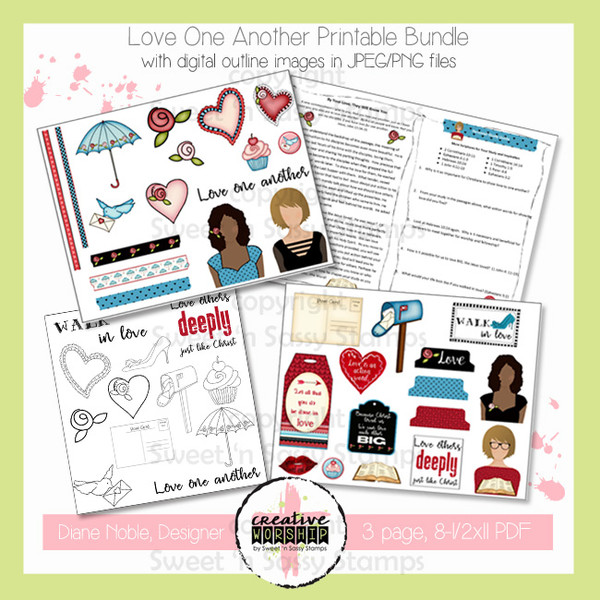 photograph about Love One Another Printable identify Artistic Worship: Enjoy 1 One more Printable Package with Devotional