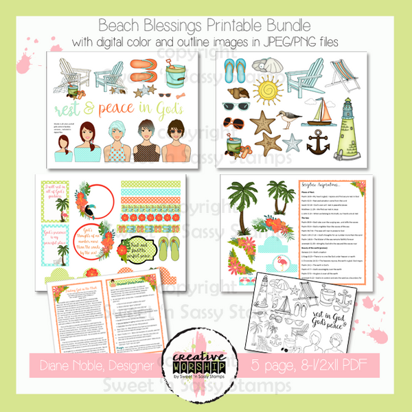 graphic regarding Beach Printable referred to as Inventive Worship: Beach front Blessings Printable Offer with Devotional