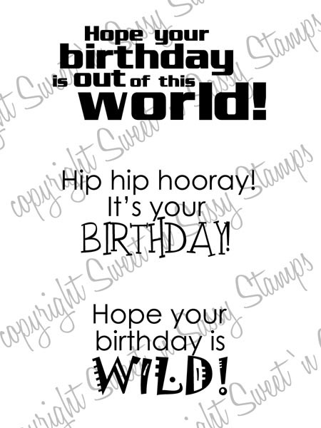 Child Birthday Sentiments Digital Stamp