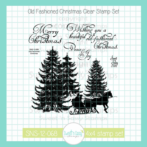 Old Fashioned Christmas Pictures.Old Fashioned Christmas Clear Stamp Set